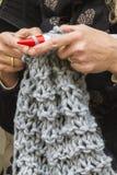 Knitting workwoman Stock Image