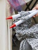 Knitting workwoman Royalty Free Stock Image
