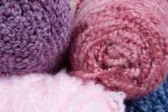 Knitting yarn 1. Closeup of fluffy yarn (for hats royalty free stock photos