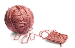 Knitting yarn stock photos