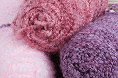 Knitting yarn 3. #3 - a set of yarn spools in a pile stock photo