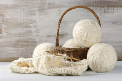 Knitting and yarn Stock Images
