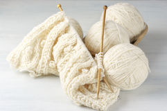 Knitting and yarn Stock Photo