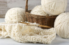 Knitting and yarn Royalty Free Stock Image