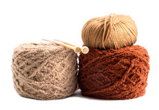 Knitting yarn balls. Knitting yarn balls and needles Stock Photography