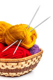 Knitting yarn balls Royalty Free Stock Photo