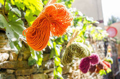 Knitting yarn balls Stock Images