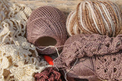 Knitting yarn Stock Image