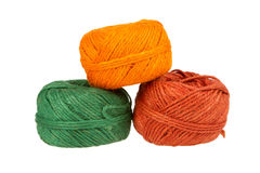 Knitting yarn isolated on a white background Royalty Free Stock Photography