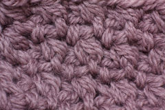 Knitting of yarn mocha color closeup Royalty Free Stock Images
