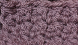 Knitting of yarn mocha color closeup Stock Images