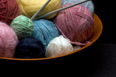 Knitting Yarn Royalty Free Stock Photos