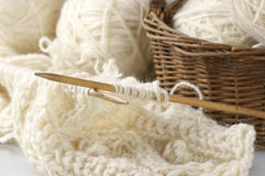 Knitting and yarn Royalty Free Stock Photo