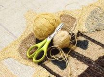 Knitting with yarn Royalty Free Stock Image