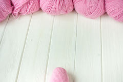 Knitting yarn rolled into ball Royalty Free Stock Photo