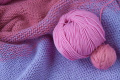 Knitting yarn rolled into ball Stock Images