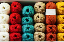 Knitting yarn in store Stock Photography