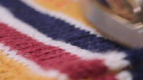 Knitwear μηχανή εργοστασίων απόθεμα βίντεο