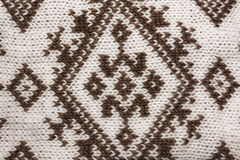 knitwear υποβάθρου Πλεκτό μαλλί με τη διακόσμηση, σύσταση Στοκ εικόνα με δικαίωμα ελεύθερης χρήσης