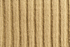 Knitwear. Orange crochet texture, close-up Stock Photos