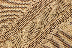 Knitwear beige texture Royalty Free Stock Photo