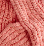 Knitwear closeup. Close up detail of knitted scarf Stock Photos
