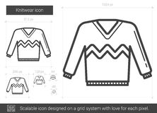 Knitwear line icon. Stock Image