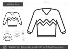 Knitwear line icon. Stock Photo