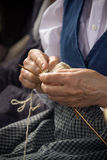 Knitwear maker (traditional craft) Royalty Free Stock Images