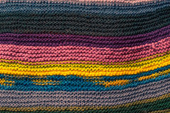 Knitwear in many colors Stock Photo