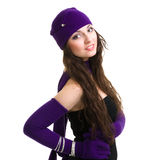 knitwear nakrętka target2157_0_ zima kobiety potomstwa obrazy royalty free