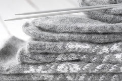 Knitwear stack Stock Photo