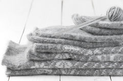 Knitwear stack Stock Photography