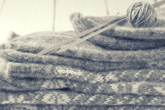 Knitwear stack Royalty Free Stock Photo