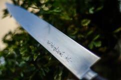 Kniv för japanSujihiki sushi fotografering för bildbyråer