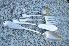 Kniv, gaffel och sked Arkivfoton