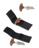 Kniv-knogar med skidan Arkivfoton