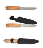 Kniv med skidan Arkivfoto