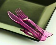 Kniv och gaffel arkivbilder