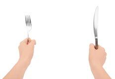 Kniv och gaffel Royaltyfria Bilder