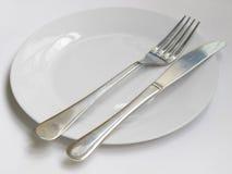 Kniv och gaffelplatta Royaltyfri Foto
