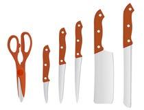 knivar Arkivfoto