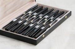 knivar inställd silver Royaltyfri Fotografi