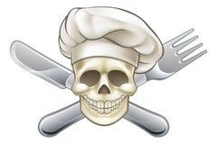 Kniven och gaffeln piratkopierar kocken stock illustrationer
