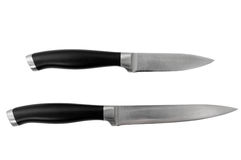 Knives. Two isolated knives on white background with clipping path Stock Photos