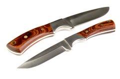 Knives. Closeup of a pair of hunting knives Royalty Free Stock Image