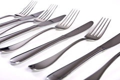 Knives and forks Royalty Free Stock Photo