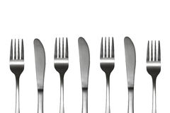 Knives and forks Stock Photo