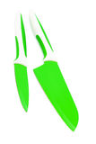Knives green Royalty Free Stock Images