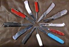 knivpennstjärna royaltyfria foton